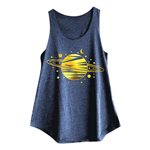 6eb0124cd711e Amazon.com  Dainzuy Women s Loose Sleeveless Tank Tops Round Neck Graphic  Printed Summer Casual T-Shirt Tops Plus Size Blouse  Clothing
