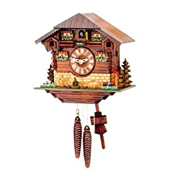 Quartz Movement Cuckoo Clock in Beautiful House Design 10 Inch