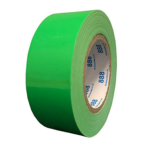 (MG888 Hi-Vis Fluorescent Green Duct Tape 1.88 Inches x 60 Yards, High Visibility, Duct Tape for Crafts, DIY, Repairs, Indoor Outdoor Use, Book Repair, Must Have Garage Tool)
