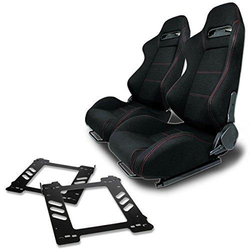 Pair of RSTRBK Racing Seats+Mounting Bracket for BMW E36 3-Series ()