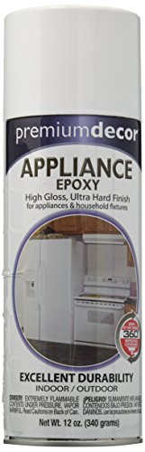 General Paint & Manufacturing PD-1538 Premium Decor Appliance Epoxy Spray with 360-Degree Spray Tip, White (Paint Spray Appliance Epoxy)