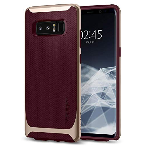 Spigen Neo Hybrid Galaxy Note 8 Case with Herringbone Flexible Inner Protection and Reinforced Hard Bumper Frame for Galaxy Note 8 (2017) - Burgundy
