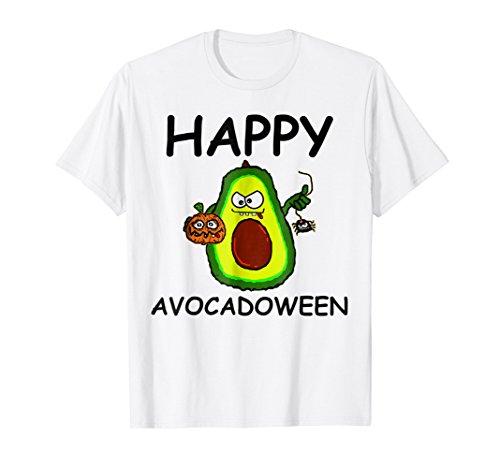 Happy Avocadoween T-Shirt Funny Halloween Costume Avocado T