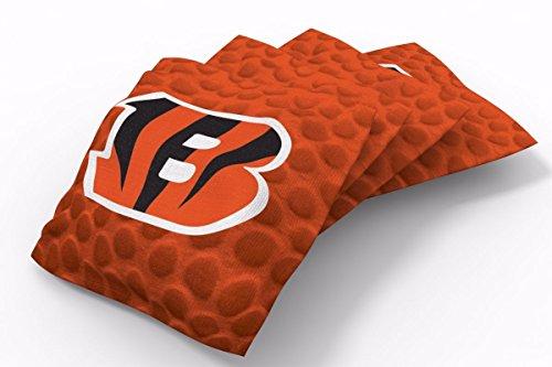 PROLINE 6x6 NFL Cincinnati Bengals Cornhole Bean Bags - Pigskin Design (B) - Cornhole Bags Cincinnati