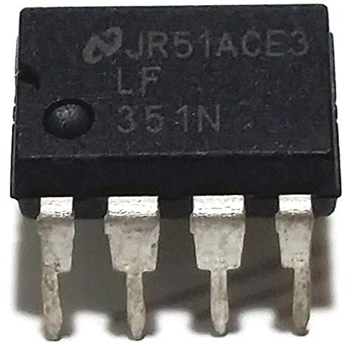 National Semiconductor LF351N LF351 Wide Bandwidth JFET Input Operational Amplifier Op-Amp Breadboard-Friendly (Pack of 5)