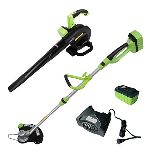 ALEKO AGTLB36V Leaf Blower and String Grass Trimmer NiZn Combo Kit by ALEKO