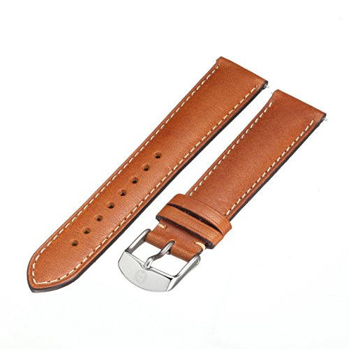 Michele Watches 18mm Leather Watch Strap - 1