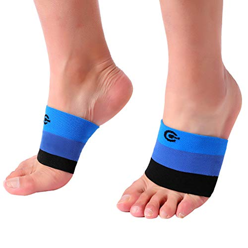 Premium Arch Compression Sleeves 1 Pair Perfect Option to Our Plantar Fasciitis Socks - for Plantar Fasciitis Pain Relief and Treatment for Everyday Use with Arch Support (BlacklueBlue, Small)