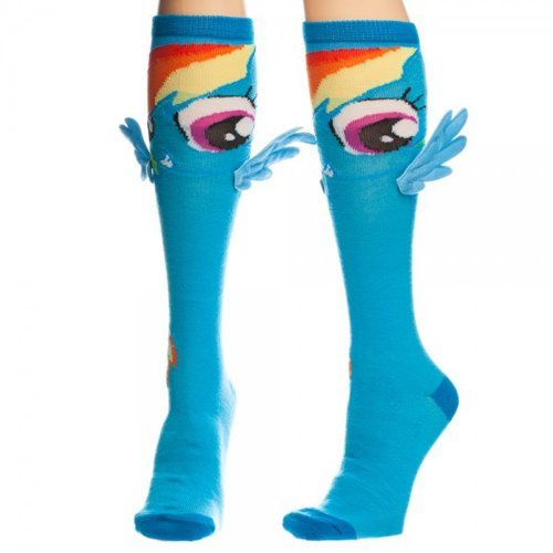 My Little Pony Rainbow Dash Knee Socks with Wings  One Size