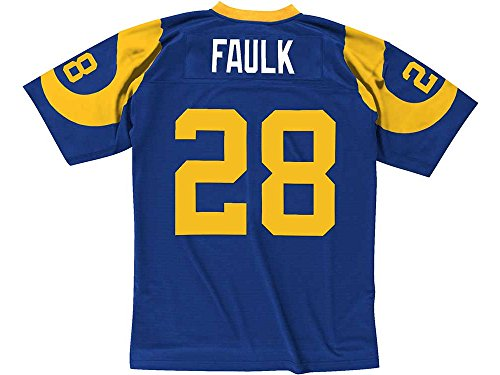 St. Louis Rams Mitchell & Ness 1999 Marshall Faulk #28Replica Throwback Jersey - Mitchell Ness Kids And