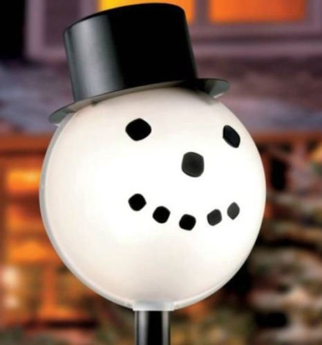 Outdoor Lamp Post Snowman - 1