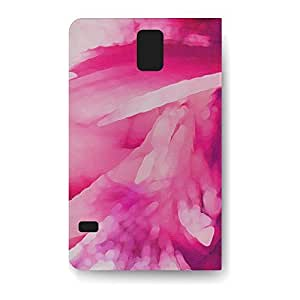 Leather Folio Phone Case For Samsung Galaxy S5 Leather Folio - Pink Abstract Watercolor Lightweight Cover