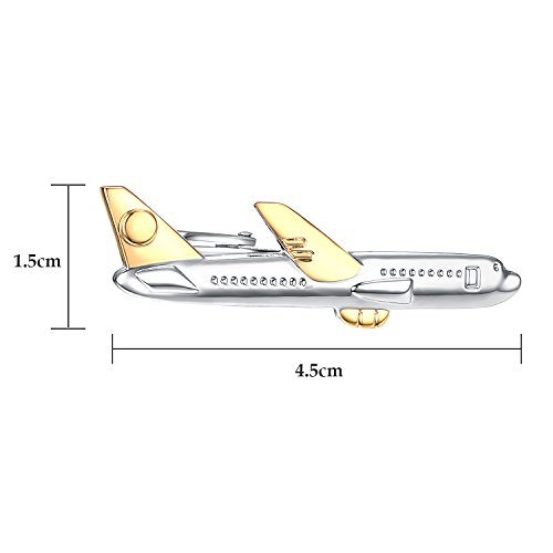 Yoursfs Airplane Jet Plane Tie Clip a Personalized Tie Clip for Airliner Pilot Aviator by Yoursfs (Image #1)