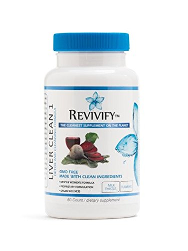 Revivify Liver and Detox Cleanse: GMO-Free, Gluten Free & Vegan Supplement – Ultraformulated Milk Thistle, Dandelion Root, Turmeric, Green Tea, Artichoke & Phosphatidylcholine – 60ct