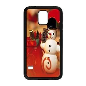 Samsung Galaxy S5 Cell Phone Case Black Snowman BNY_6905339