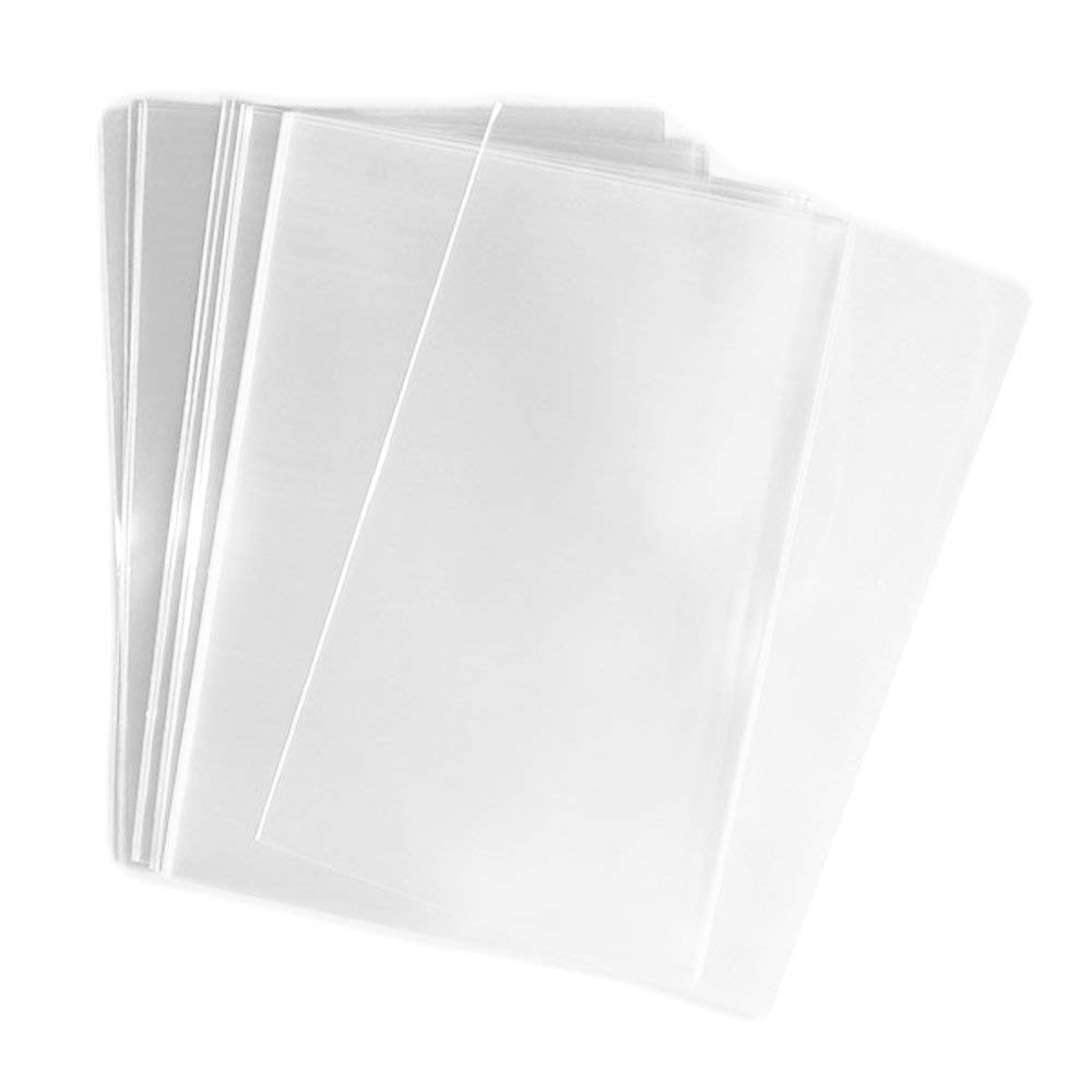 by UNIQUEPACKING 100 Pcs 4 3//8 X 5 3//4 Clear A2 Card Resealable Cellophane Cello Bags