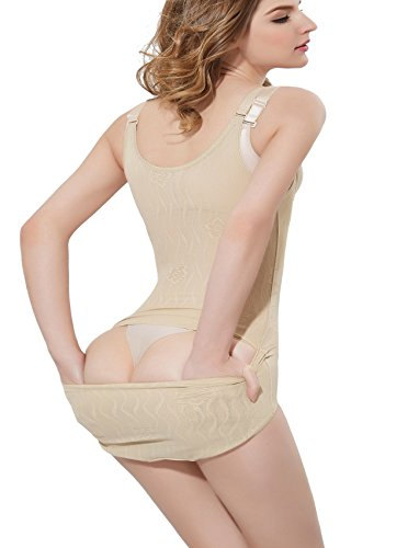 Costumes Sexy Petite (Women's Full Body Briefer Slimmer Body Shaper Bodysuit Shapewear Wear Your Own)