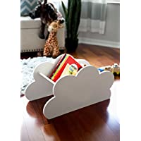 Cloud Book Caddy for Kids Room Baby Nursery Decor Cloud Bookcase Book Shelf - Decorations for Bedroom Artwork Clouds