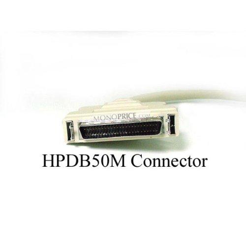Monoprice 100744 3-Feet HPDB50 M/M SCSI Cable 25PR (100744)