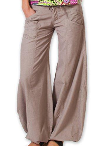 Coton Du Monde SOFY-Pantalón, color gris gris