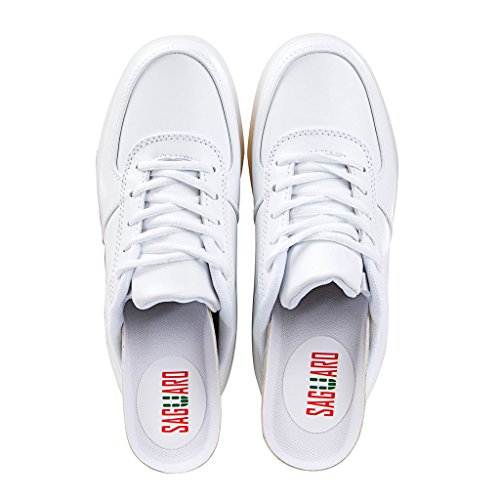 SAGUARO Jungen Mädchen Turnschuhe USB Lade Flashing Schuhe Kinder LED Leuchtende Schuhe Weiß