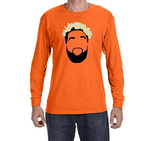 - Tobin Clothing Orange Cleveland Beckham Face Long Sleeve Shirt Adult XL