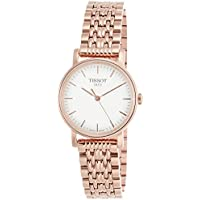 Tissot Silver Dial Rose Gold Tone Stainless Steel Ladies Watch T1092103303100
