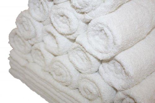 Atlas 48-Pack Premium 16x27 Salon Hand Towels White RING SPUN Eco-Friendly
