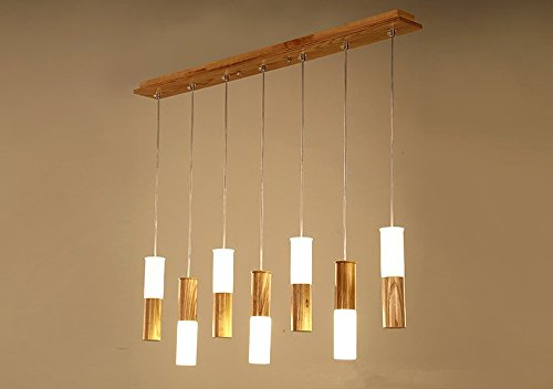 Wooden Stick Pendant Light in US - 3