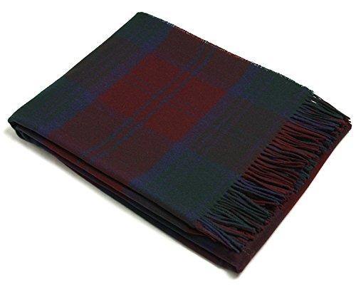 Bronte Throw Blanket - Tartan Throw - Merino Lambswool (Lindsay)