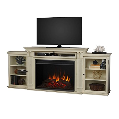 Real Flame Tracey Grand Electric Fireplace Distressed White 8720E-DSW