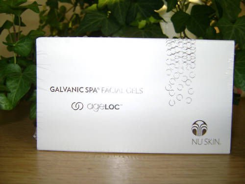 Nu Skin Galvanic Spa Facial Gels with Ageloc - 1 Box Treatment Beauty Product