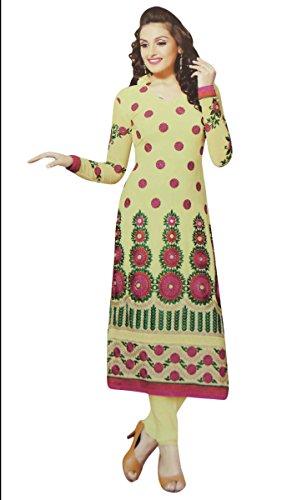 Embroidered Salwar Kameez Georgette Unstitched Straight Indian Wear Dress