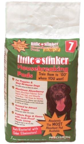 Precision Pet Little Stinker 7-Pack Housebreaking Pads (Pads Stinker Housebreaking Little Precision)