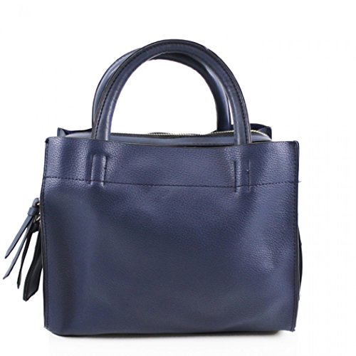 Shopping Work Navy Handbag Faux Leather Bags Shoulder For Leahward Women's College Women School qv7wOx4UWP