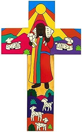Croix religieuse en bois.Croix en bois Enfant
