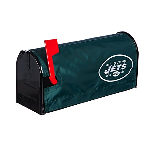 Ashley Gifts Customizable Embroidered Applique fabric NFL Mailbox Cover, New York Jets