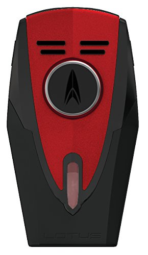(NEW LOTUS FURY L59 TWIN TORCH FLAMES CIGAR LIGHTER - RED & BLACK)