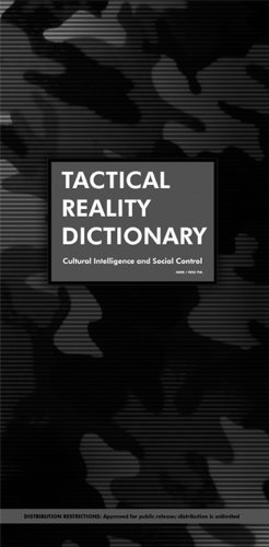 Tactical Reality Dictionary: Cultural Intelligence and Social Control pdf epub