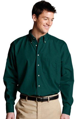 Edwards Garment Men's Long Sleeve Button Down Poplin Shirt_TEAL_XXXXX-Large 37