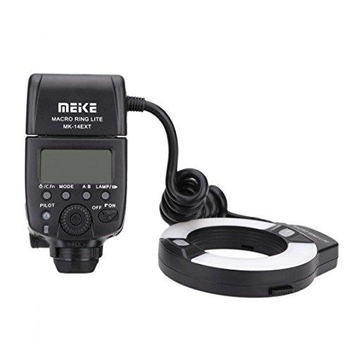 Meike MK-14EXT E-TTL マクロリングフラッシュ LEDライト AFアシストランプ付 Canon DSLR カメラ用