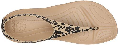 Crocs W Flip Leopard Flop Print Gold Women's Sexi rn7U6qxrg