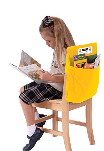 Seat Sack Elastic Back Storage Pocket, 12 to 17 Inches, Yellow]()