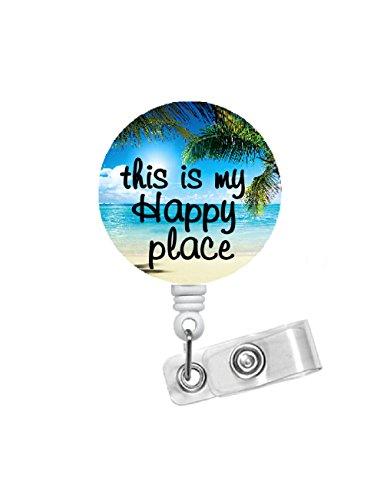 Beach Badge Holder - ID Badge Reel - Student Nurse ID Badge - Zen Badge Clip - Nursing Badge - RN Badge Reel - Medical Badge - Sea Pass Badge - Gift for Her