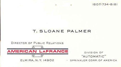 Amazon 1960s american lafrance public relations business card 1960s american lafrance public relations business card colourmoves