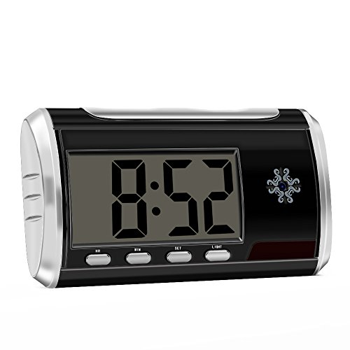 Spy Camera Clock Home Security Hidden Camera Motion Activated 1080P Loop Video Recorder Nanny Cam