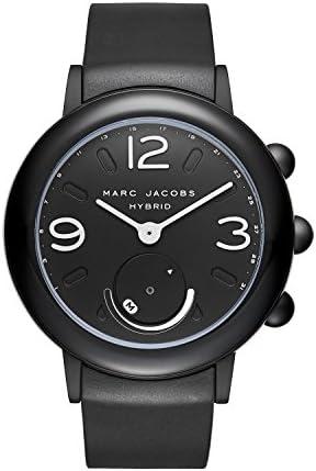 Marc Jacobs レディース ライリーアルミとラバーハイブリッドスマートウォッチ、カラー:ブラック(MJT1002) ブラック/ブラック