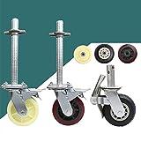 Caster 6 inch Nylon Polyurethane Rubber Wheels