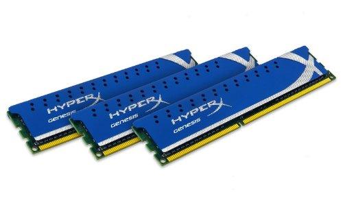 - Kingston Technology HyperX Genesis 6GB 1600MHz DDR3 Non-ECC CL9 Desktop Memory (Kit of 3) XMP 6 Triple Channel Kit (PC3 12800) 240-Pin DDR3 SDRAM - KHX1600C9D3K3/6GX