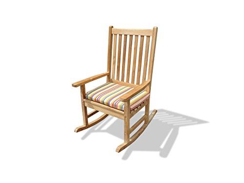 Windsor's Premium Grade A Teak Valencia High Back Rocking Arm Chair, 27